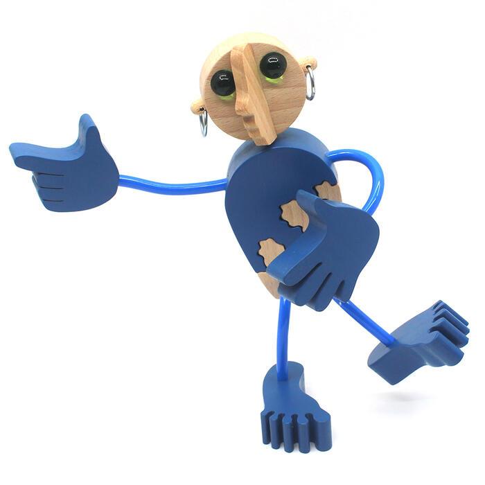 【名入れ可】●木の人形(5号)自由自在にポーズを変えて楽しむことができます。可愛い木のおもちゃ 日本製 6ヶ月 7ヶ月 8ヶ月 9ヶ月 10ヶ月 1歳 2歳 3歳 4歳 5歳 誕生日ギフト〜出産祝い 赤ちゃん 男の子 女の子 誕生祝い 木工職人手作り 親子 木育 家族 ままごと 知育玩具