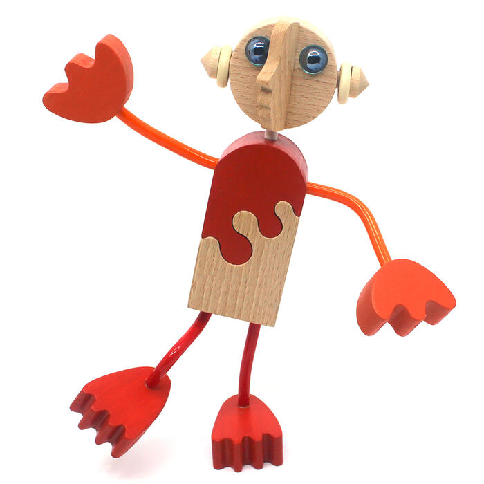 【名入れ可】●木の人形(8号)自由自在にポーズを変えて楽しむことができます。可愛い木のおもちゃ 日本製 6ヶ月 7ヶ月 8ヶ月 9ヶ月 10ヶ月 1歳 2歳 3歳 4歳 5歳 誕生日ギフト〜出産祝い 赤ちゃん 男の子 女の子 誕生祝い 木工職人手作り 親子 木育 家族 ままごと 知育玩具