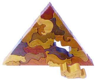 CAT PYRAMID Wooden Toys (Ginga Kobo Toys) Japan