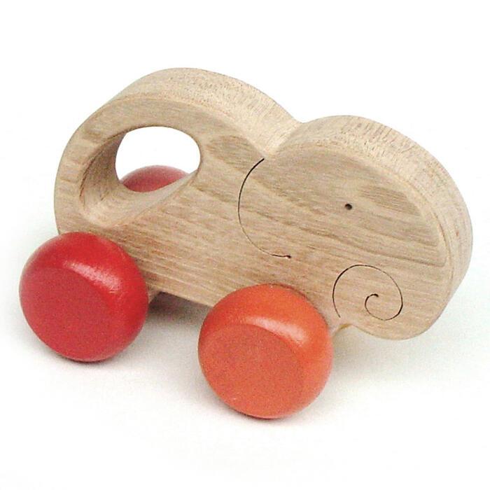 【名入れ可】●やさしい象 押しぐるま 木のおもちゃ 車 押し車 カタカタ 知育玩具 日本製 誕生祝い 赤ちゃん おもちゃ おしぐるま 6ヶ月 1歳 2歳 3歳 誕生日ギフト 出産祝い 男の子 女の子 木工職人手作り 親子 木育 家族 背中マッサージ