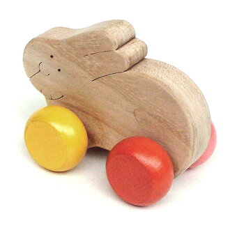 Rolling Bunny Wooden Toys (Ginga Kobo Toys) Japan