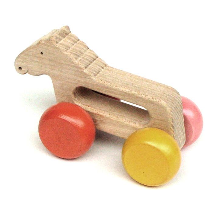 【名入れ可】●がらがら馬 押しぐるま 愉快で楽しい木のおもちゃ 日本製 木のおもちゃ 車 押し車 カタカタ 知育玩具 誕生祝い 赤ちゃん おもちゃ 6ヶ月 1歳 2歳 3歳 誕生日ギフト 出産祝いに♪男の子 女の子 木工職人手作り 親子 木育 家族 マッサージ 背中コロコロ