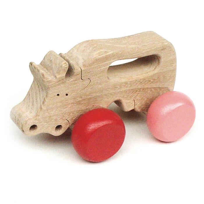 【名入れ可】●のんびり牛 押しぐるま 愉快で楽しい 木のおもちゃ 車 日本製 押し車 カタカタ 知育玩具 誕生祝い 赤ちゃん おもちゃ 6ヶ月 9ヶ月 1歳 2歳 3歳 幼児 誕生日ギフト 出産祝い 男の子女の子 木工職人手作り がらがらラトル 親子 木育 家族 背中マッサージ