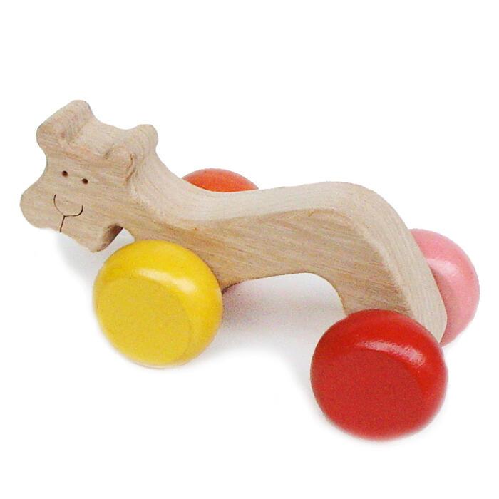 【名入れ可】●虎の子 押しぐるま 木のおもちゃ 車 日本製 押し車 カタカタ 知育玩具 誕生祝い 赤ちゃん おもちゃ おしぐるま 6ヶ月 1歳 2歳 3歳 誕生日ギフト 出産祝い 男の子 女の子 木工職人手作り 親子 木育 家族 背中マッサージ