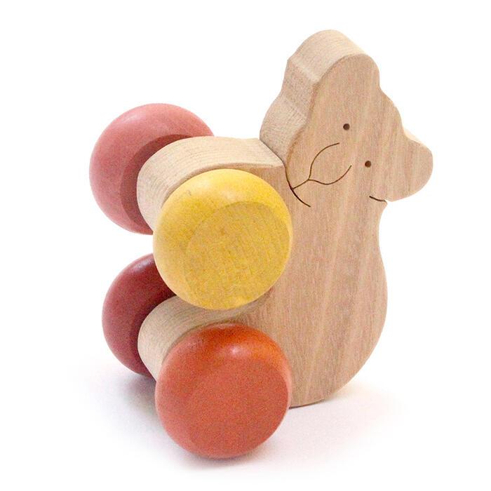 【名入れ可】●お座りコアラ 押しぐるま 愉快で楽しい 木のおもちゃ 車 日本製 押し車 カタカタ 知育玩具 誕生祝い 赤ちゃん おもちゃ おしくるま 6ヶ月 9ヶ月 1歳 2歳 3歳 誕生日ギフト 出産祝い 男の子女の子 木工職人手作り がらがらラトル 親子 木育 家族 背中マッサージ