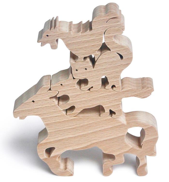 【名入れ可】●ブレーメンの音楽隊 木のおもちゃ 知育玩具 2歳 3歳 4歳5歳〜 男の子 女の子 積み木 パズル 型はめ 誕生祝い 出産祝い 誕生日ギフト 動物パズル 赤ちゃん おもちゃ 日本製 幼児〜高齢者 木育 家族