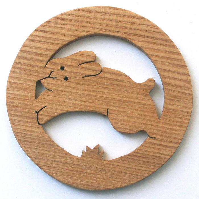 【名入れ可】■ぴょんぴょんうさぎ 遊び心いっぱいの木のコースター 木のおもちゃ 実用的 おもしろ積み木 国産材 バリアフリー 木工職人手作り お使いもの 木育 家庭 おしゃれなカフェ ショップ 赤ちゃん おもちゃ 木育 安全 安心 日本製 coaster