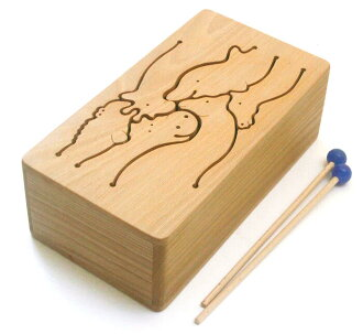 ANIMAL Drum (6 SCALES) Wooden Toys (Ginga Kobo Toys) Japan