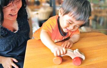 木のおもちゃ知育玩具銀河工房押し車おしゃぶりガラガラ赤ちゃんベビー積木ブロック子供家具こどもつみきプルトイおしぐるま