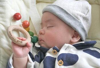 おひさまラトル木のおもちゃ出産祝い名入れギフト日本製おしゃぶり銀河工房WoodenToys(GingaKoboToys)Japan