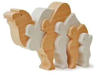 ●向0岁1岁2岁3岁4岁5岁生日分娩祝贺骆驼的スタンディングパズル(智育玩具树的玩具积木)3个月6个月推荐,并且戴上制造国产型,并且是幼童~高龄者■Wooden Toys japan