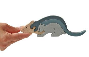 ねずみのスタンディングパズル木のおもちゃ知育玩具積み木銀河工房日本製WoodenToys(GingaKoboToys)japan