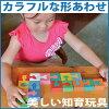 SHAPED BLOCKS OF COLOUR Wooden Toys (Ginga Kobo Toys) Japan