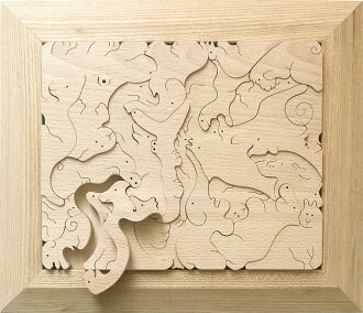 ANIMAL JIGSAW PUZZLE Wooden Toys (Ginga Kobo Toys) Japan