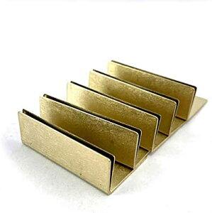 日本製 ブラス 真鍮 カードスタンド ワイドサイズ 5個セット 名刺 ポストカード立て
