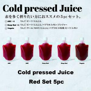 GoodayJuice コールドプレスジュース レッドセット5パック                         スムージー フルーツ 野菜 冷凍 ギフト 出産祝い 内祝い 無添加 ビーガン ダイ