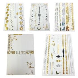 gleams グリームス ジュエリータトゥーシール #ホワイト jewelry inspired temporary tattoos 韓国コスメ 【ゆうパケット対応 1cm ※必ず注意事項をご確認の上ご選択ください。】