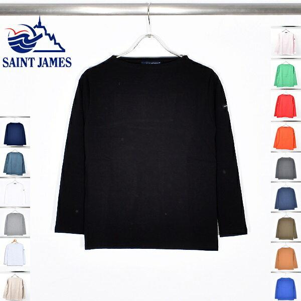 SAINT JAMES セントジェームス OUESSANT ウェッソン メンズ レディース ユニセックス 国内正規品 バスクシャツ 長袖 無地