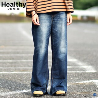 【HealthyDENIMヘルシーデニム】hl38432-dsLaurierDarkSlitダークスリットデニムパンツレディース女性用