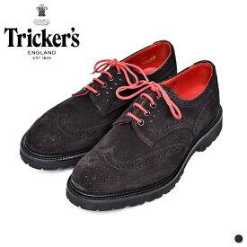 【 別注 】【 20SS 】【 トリッカーズ 】 バートン ビブラム ライト 【 Tricker's 】 BOURTON VIBRAM V LITE M7292 メンズ 男性 レザー シューズ 短靴 靴 ブラック スウェード スエード イギリス カントリーシューズ ウィングチップ