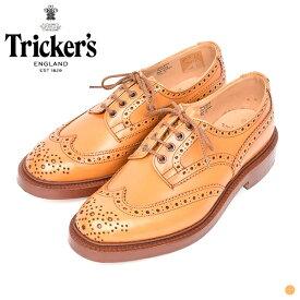 【 20SS 】【 トリッカーズ 】 バートン 【 Tricker's 】 BOURTON 5633 メンズ 男性 レザー シューズ 短靴 靴 イギリス カントリーシューズ ウィングチップ エイコーン アンティーク ブラウン