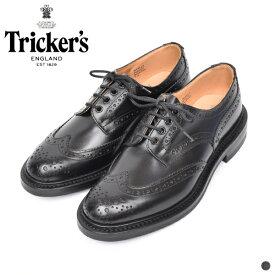 【 トリッカーズ 】 バートン 【 Tricker's 】 BOURTON メンズ 男性 レザー シューズ 短靴 靴 イギリス カントリーシューズ ウィングチップ S633 ブラック