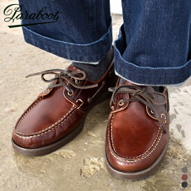 【取寄せ可】【 21SS 】【 パラブーツ 】 バース マリン 【 Paraboot 】 BARTH / MARINE メンズ レディース ユニセックス 男性 女性 男女兼用 レザー シューズ 靴 ブラック デッキシューズ フランス 海軍 革靴 マリンソール