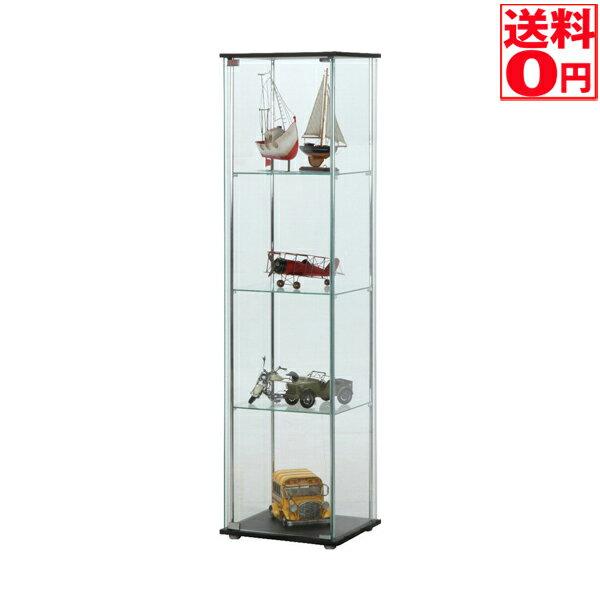 在庫有り【送料無料】 ガラスコレクションケース4段 96047