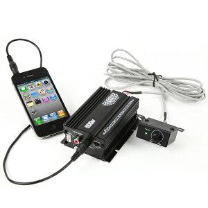 バイクオーディオアンプiPhoneスマホ対応【レビューを書いて送料無料】ボリュームリモコン2チャンネルMAX300W小型アンプマジェスティフォルツァフュージョンマグザムスカイウェーブ原付ディオジョグ