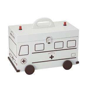 救急箱 救急車 ホワイト L 60057