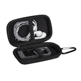 【送料無料】AGPTEK MP3プレーヤー収納ポーチ 音楽プレーヤー キャリングケース ポータブル カラビナ付き コンパクト 通学/通勤/運動用 対応機器のサイズ:約W4.3×H9.2×D1.3CM ブラック