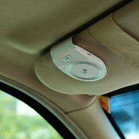 AGPTEK 車載用 ワイヤレス Bluetooth ポータブルスピーカー スピーカーホン ハンズフリー通話 音楽再生 ブルートゥース4.1 ホワイト T821