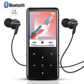 AGPTEK 音楽プレーヤー Bluetooth対応 MP3プレーヤー bluetooth4.0 HIFI高音質 2.4 インチ 大画面 FMラジオ/録音 タッチパネル 内蔵16GB マイクロSDカード対応 イヤホン付属 ブラック C2