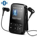AGPTEK 音楽プレーヤー ミュージック プレーヤー Bluetooth搭載 クリップ ミニ MP3プレーヤー 8GB内蔵 高音質 FMラジオ/録音 イヤホン...