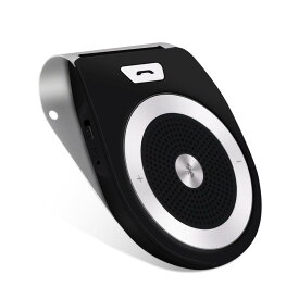 【送料無料】AGPTEK 車載用 Bluetoothスピーカー ワイヤレス ポータブルスピーカーホン ワイヤレススピーカー カースピーカー 車載スピーカー 車用品 カー用品 ハンズフリー通話 音楽再生 ブルートゥース4.0 T821 ブラック