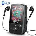 AGPTEK MP3プレーヤー Bluetooth4.0搭載 クリップ 音楽プレーヤー ロスレス音質 内蔵8GB マイクロSDカード最大128GBに対応 イヤホン/アームバンド付属 ミュージックプレーヤー 歩数計/ラジオ/録音 A50 ブラック