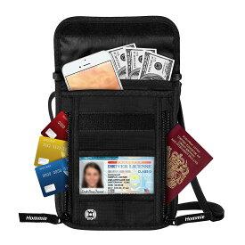 Hommie パスポートケース スキミング防止 ショルダー バッグ ポーチ セキュリティポーチ 貴重品入れ 便利グッズ 防犯グッズ トラベルポーチ 首下げ 首掛け 海外旅行