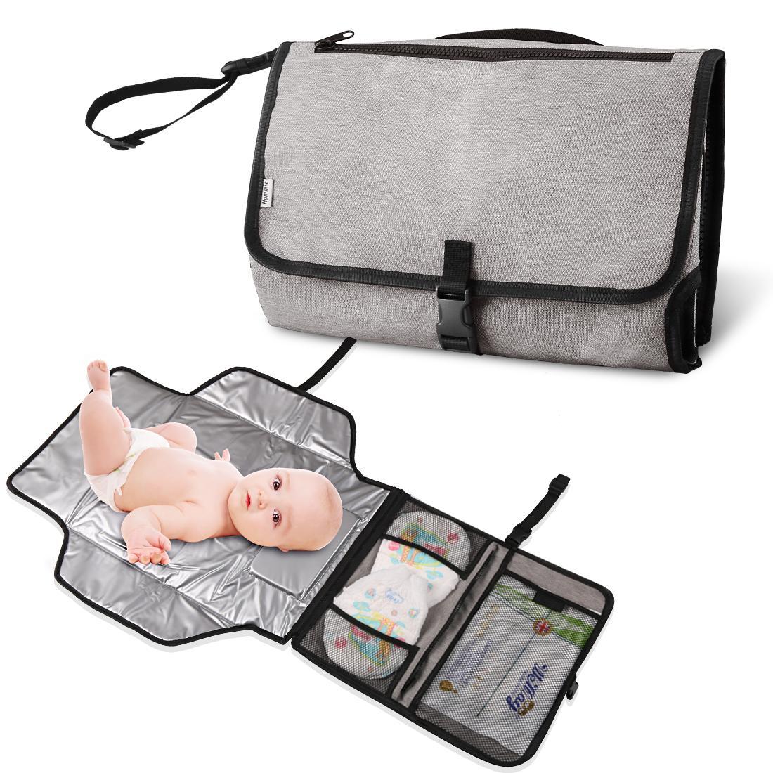 Hommie おむつ替えシート 赤ちゃん ポータブル おむつ替えマット 取り外し 折りたたみ 可能 防水 衛生用品 洗濯可 外出 旅行 持ち運び 出産祝い