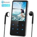 音楽プレーヤー MP3プレーヤー Bluetooth4.1 スピーカー搭載 デジタルオーディオプレーヤー 2.4インチ大画面 独立音量…