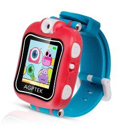 AGPTEK 子供用 キッズ時計 キッズウォッチ スマートウォッチ 子供 腕時計 キッズ おもちゃウォッチ キャラクター時計 プレイウォッチ おもちゃ 子供用 多機能 腕時計 タッチパネル 写真撮影 ゲーム 知育玩具 送料無料
