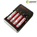 【全国送料無料】18650 リチウムイオンバッテリー 充電池4本+充電器セット Li-ion 18650充電器 18650 リチウムイオン…