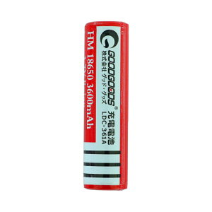 高性能18650リチウムイオン電池(3.7V3600mAh)プロテクト機能付き保護機能つき