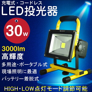 GOODGOODS「あす楽・1年保証」LED投光器充電式電池切替可LEDライト充電式震災・停電対策