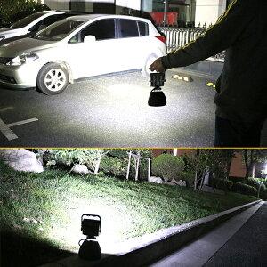 作業灯投光器led充電式15W強力マグネット付きモバイルバッテリースマホ充電可