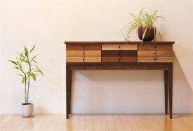 コンソールテーブル おしゃれ 120 3段 木製 完成品 日本製 チェスト キャビネット 引き出し 机 デスク 開梱設置無料 送料無料