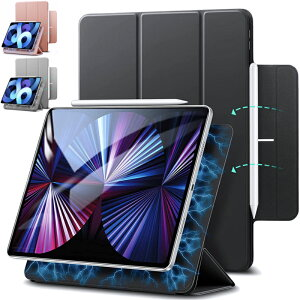 ESR iPad mini6 2021 Air 4 ケース カバー iPad 10.9インチ iPad Pro 11 第3世代 2021 第2世代 2020 Pro12.9インチ 第5世代 2021 磁気吸着[第二世代 Pencilのペアリング & 充電に対応]オートスリープ スリム シルク手