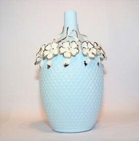 【送料無料】 花瓶 青色 KBーMB01 インテリア オブジェ 飾り 置物 プレゼント 新築祝い 新生活 玄関 リビング 寝室 お祝い 記念 お返し 友達 夫婦 親 式 花 上品 造花 誕生日