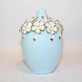 【送料無料】 花瓶 青色 KBーSB03 インテリア オブジェ 飾り 置物 プレゼント 新築祝い 新生活 玄関 リビング 寝室 お祝い 記念 お返し 友達 夫婦 親 式 花 上品 造花 誕生日