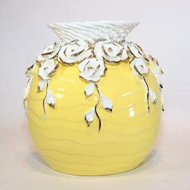 【送料無料】 花瓶 黄色 KBーSE04 インテリア オブジェ 飾り 置物 プレゼント 新築祝い 新生活 玄関 リビング 寝室 お祝い 記念 お返し 友達 夫婦 親 式 花 上品 造花 誕生日