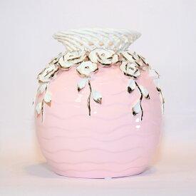 【送料無料】 花瓶 ピンク KBーSP04 インテリア オブジェ 飾り 置物 プレゼント 新築祝い 新生活 玄関 リビング 寝室 お祝い 記念 お返し 友達 夫婦 親 式 花 上品 造花 誕生日